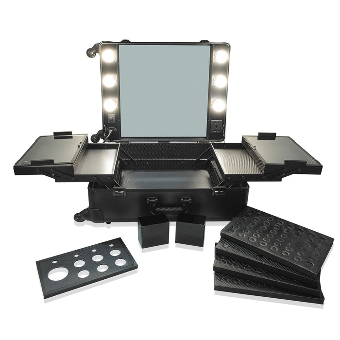 Black OPV LED Vanity Mirror Case with Legs