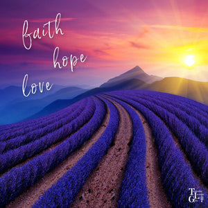 Tasmanian Lavender Gifts Wishes Faith, Hope and Love at Easter and Beyond
