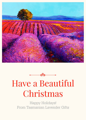 Tasmanian Lavender Gifts Wishes You a Beautiful Christmas