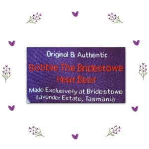 Bobbie Bridestowe Lavender Bear Authentication Label - Tasmanian Lavender Gifts