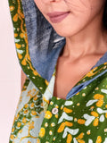 Gloria Heritage Batik Hooded Romper - Green Parang
