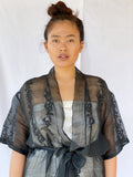 Aurea Handwoven Pineapple Fiber Wrap - Delish Black - PREORDER