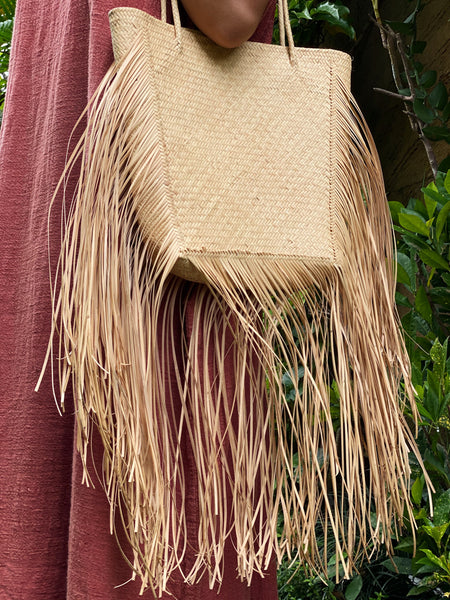 Kathryn Handwoven Rattan Bag - Natural Beauty