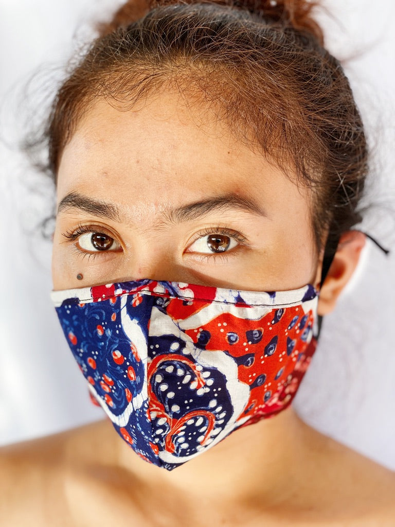 Face Mask - Handpainted Healthy Batik
