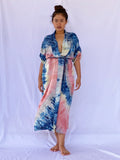 Nina Plant Dyed Silk Kimono Wrap - Red Swirl - GIVE AWAY