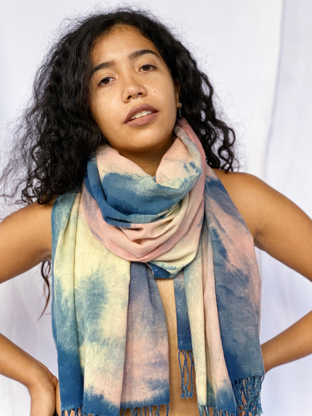 Agnes Handwoven Plant Dyed Scarf - Spring