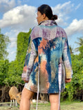 Nikki Handcrafted Oversized Shacket - Rothko Radical
