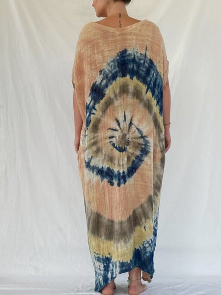 Olia Handcrafted Dress - Sunkissed Swirl (Maxi)