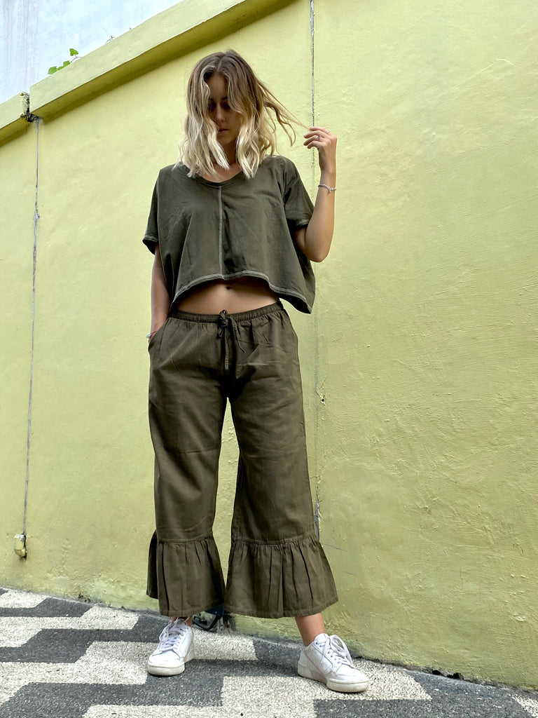Stephanie Organic Cotton Plant Dyed Pants