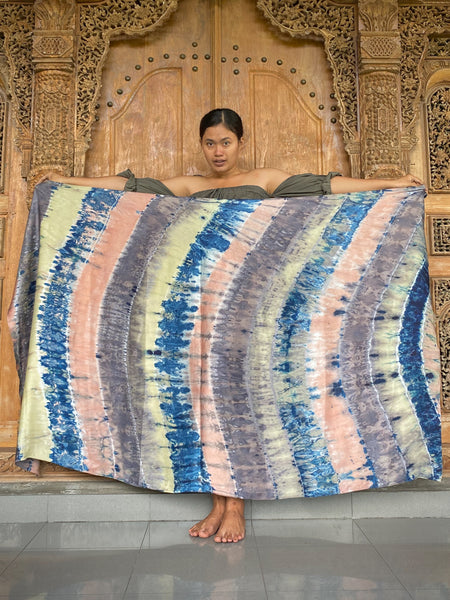 Ayu Silk Plant Dyed Sarong/Scarf - Earthy Mix