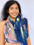 Agnes Handwoven Plant Tie-Dyed Scarf - Fall