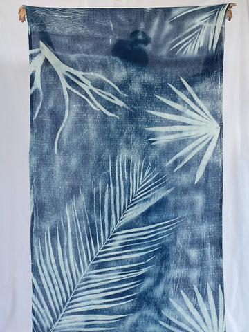 Agnes Handwoven Plant Dyed Scarf - Palm-Print