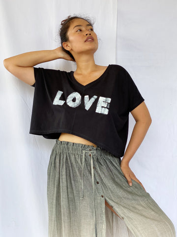 Sari LOVE Plant Dyed Organic Cotton Shirt - Cropped