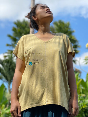 Hannah Tree-Planting Organic Cotton Shirt - 1 Shirt 3 Trees (Tunic)