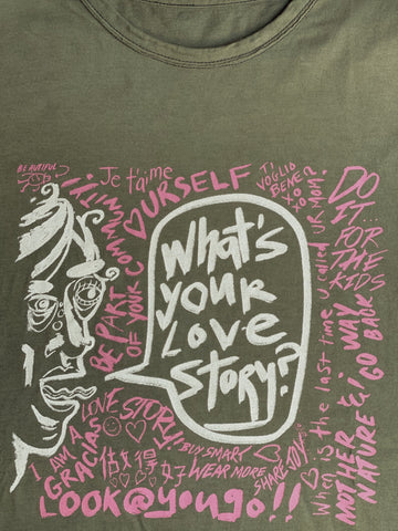 Love Stories Streetart T-Shirt - Crew Neck
