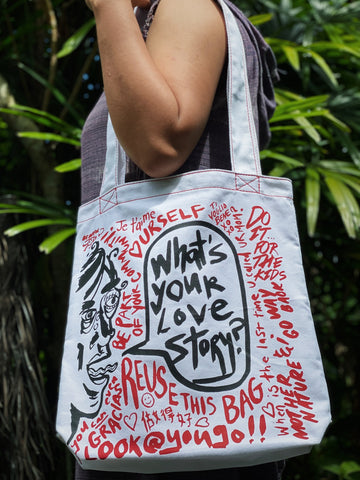 Love Stories Streetart Tote Bag