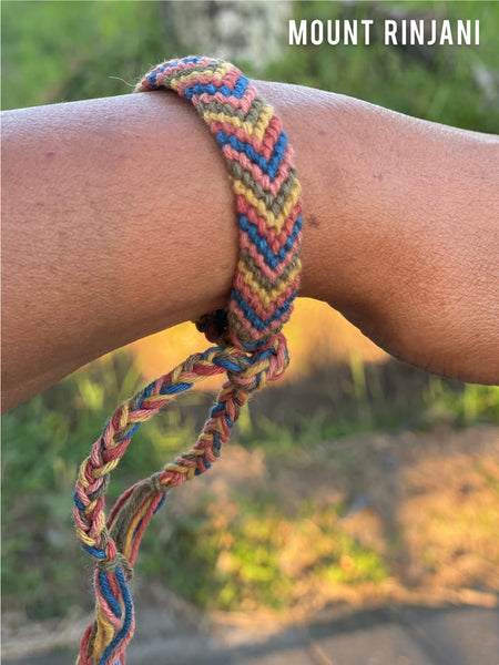 Serni Plant Dyed Recycled Cotton Bracelet - In Washable Colors