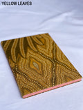 Kaycee Recycled & Upcycled Fabric Notebook with Cinnamon Pen
