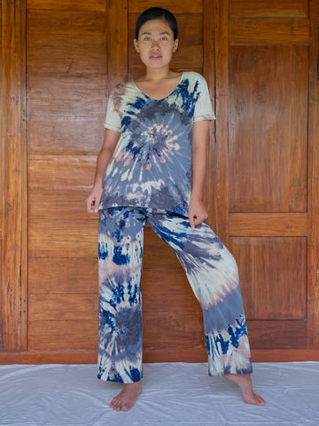 Onet Plant Dyed Organic Cotton Lounge Set - Ocean Swirl