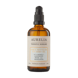 Firm and revitalise dry body oil by Aurelia probiotic skincare