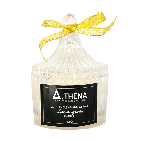 Lemongrass Soy Candle + Hand Cream, 65g
