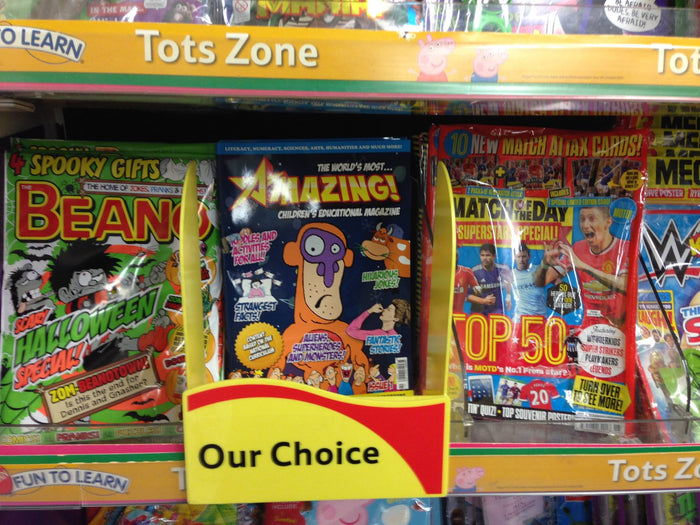 Amazing! Magazine, the monthly magazine that is getting children excited about learning, proves there's more to kid's magazines than the free gift on the cover