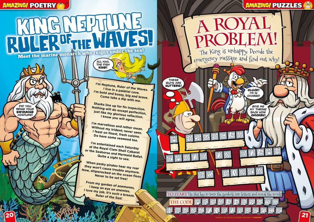 Amazing! magazine poem - Neptune, the ruler of the waves!