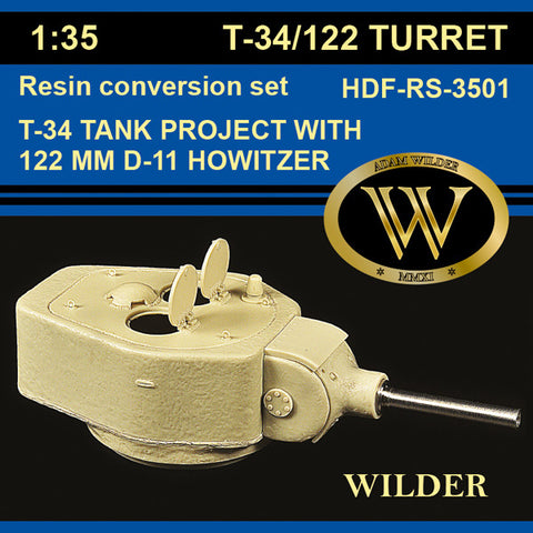 HDF-RS-3501 - T-34/122 Tank Turret Project with 122 mm D-11 Howitzer