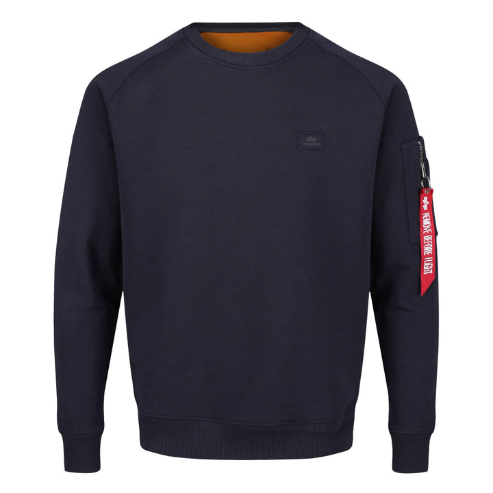 ALPHA INDUSTRIES L/S X-FIT JUMPER 158320B REP BLUE