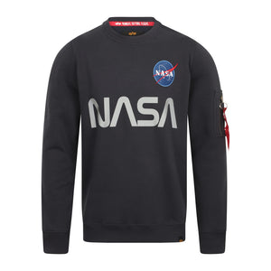 Open image in slideshow, ALPHA INDUSTRIES L/S NASA REFLECTIVE SWEATER 178309 REP BLUE
