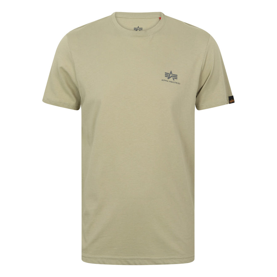 ALPHA INDUSTRIES S/S BASIC SMALL LOGO T-SHIRT 188505 LIGHT OLIVE