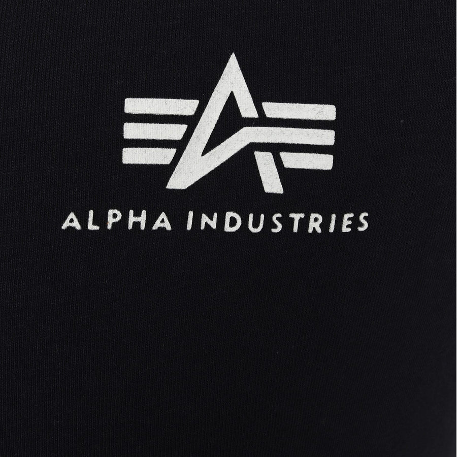 ALPHA INDUSTRIES S/S BASIC SMALL LOGO T-SHIRT 188505 REP BLUE