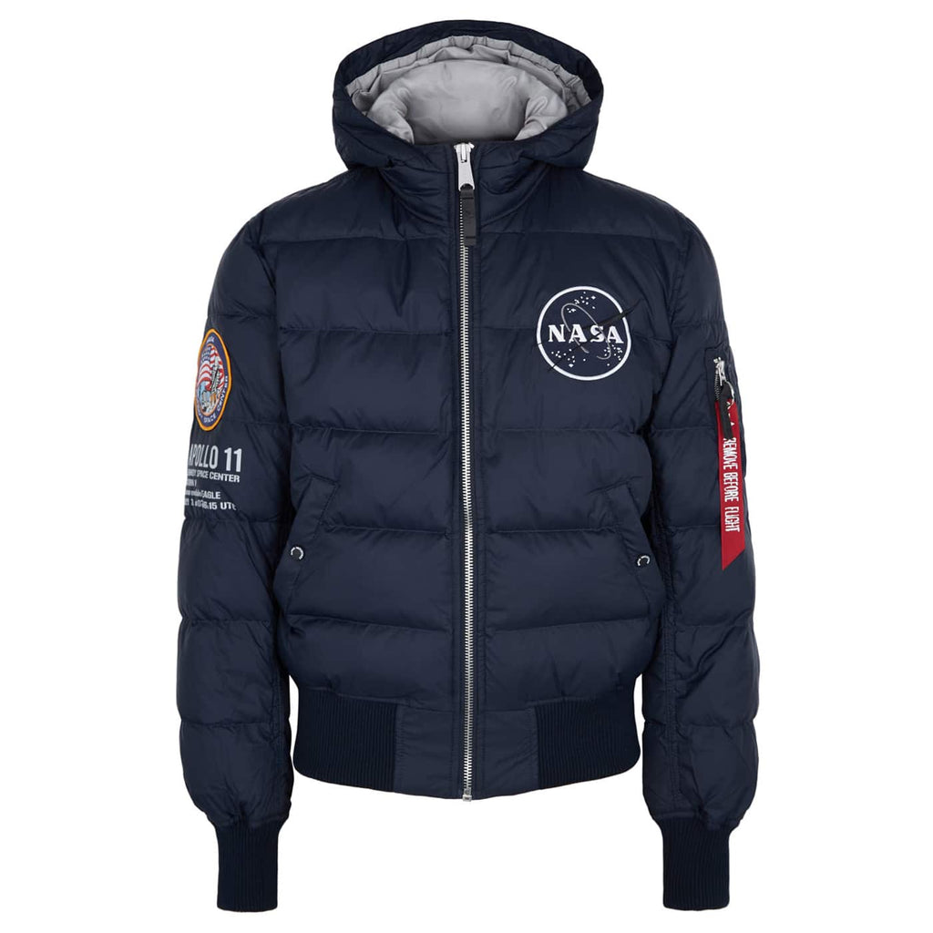 ALPHA INDUSTRIES L/S APOLLO 11 PUFFER JACKET 188142 NAVY