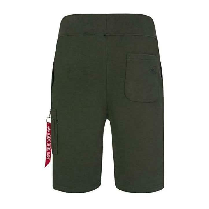 ALPHA INDUSTRIES DRAWSTRING X-FIT CARGO SHORT 166301B DARK GREEN