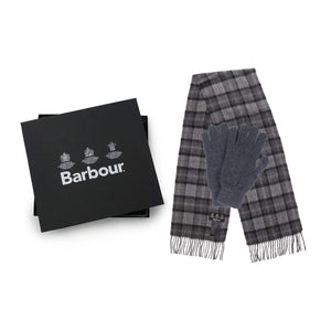 BARBOUR SCARF AND GLOVES GIFT SET MAC0042 GREY