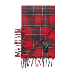 BARBOUR SCARF AND GLOVES GIFT SET MAC0042 RED