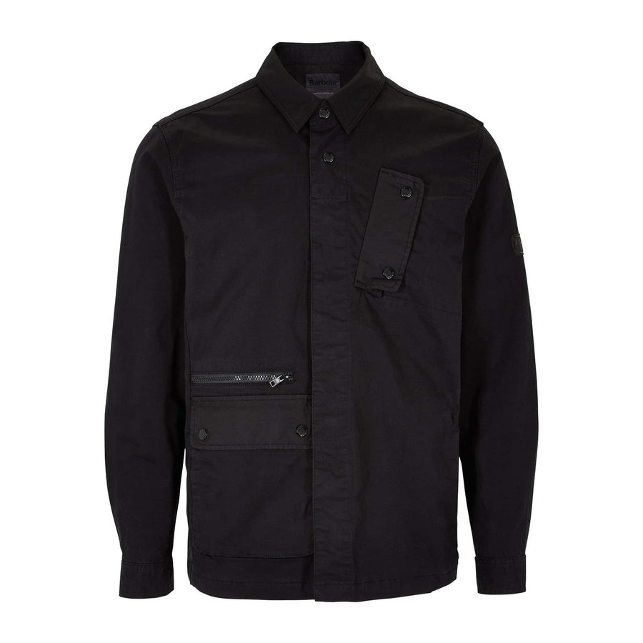 BARBOUR L/S B.INTL REMOTE OVERSHIRT MOS0098 BLACK