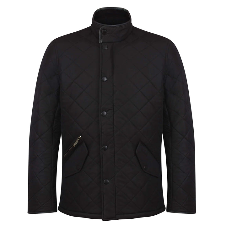 BARBOUR L/S POWELL QUILTED JACKET MQU0281 BLACK