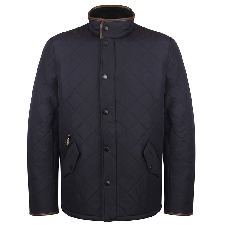 BARBOUR L/S POWELL QUILTED JACKET MQU0281 NAVY