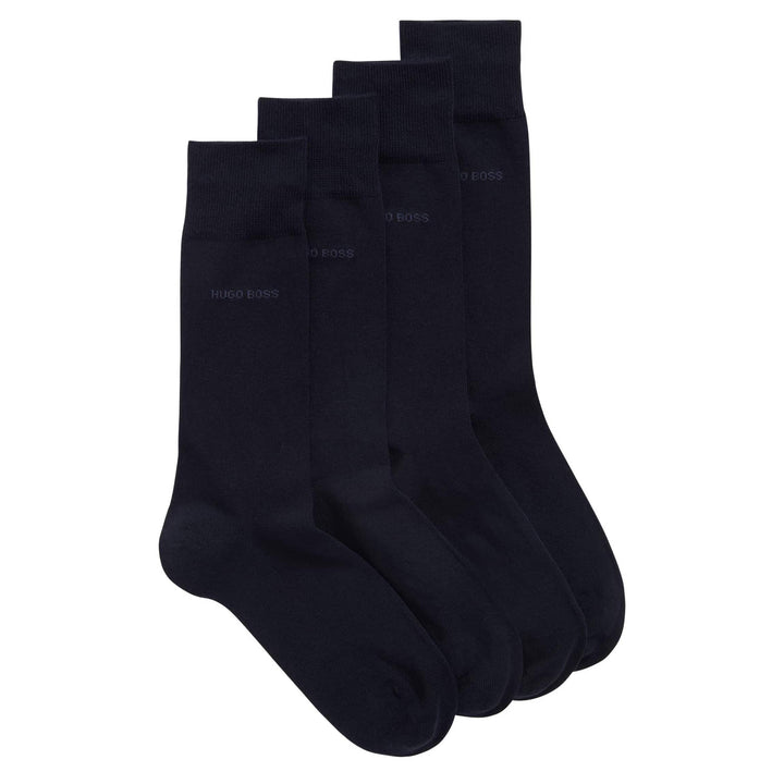 BOSS 2 PACK BRANDED SOCK 50388437 DARK BLUE