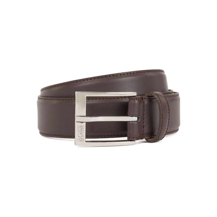 HUGO BOSS ELIOTYO BUCKLE BELT 50385849 DARK BROWN