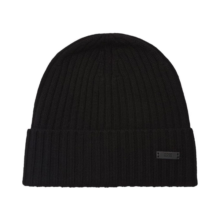 BOSS FATI-M LOGO BRANDED BEANIE 50435354 BLACK (001)