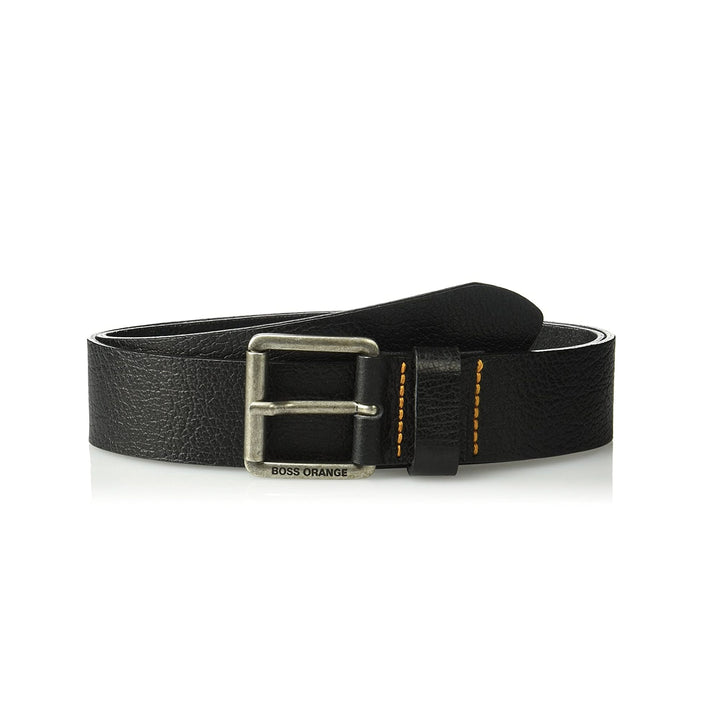 BOSS LOGO BRANDED LEATHER BELT 50370059 BLACK