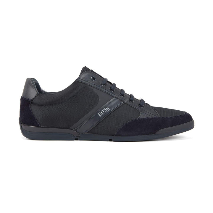 BOSS SATURN LOW LACE UP TRAINER 50407672 DARK BLUE