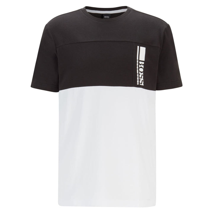 BOSS TEE 7 COLOUR-BLOCK JERSEY T-SHIRT
