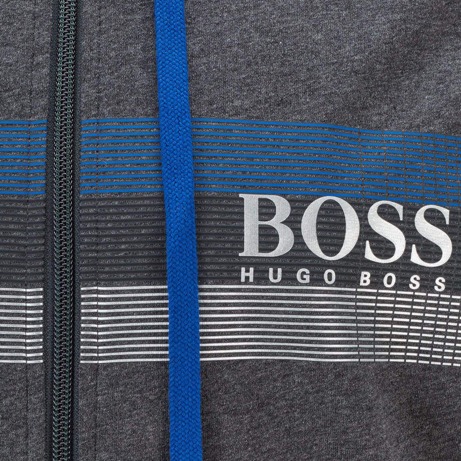 Boss French-Terry Block Striped Hoodie
