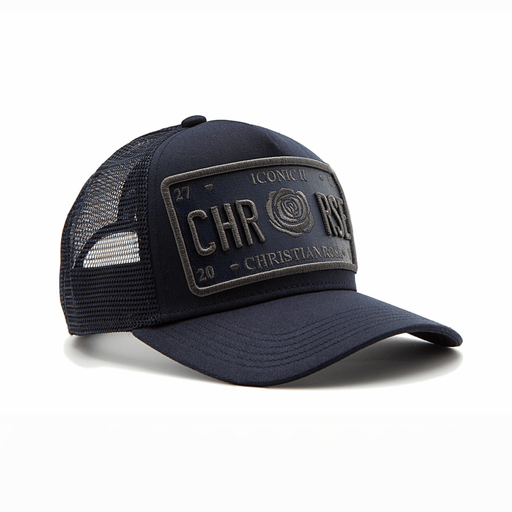CHRISTIAN ROSE ICONIC VINYL PATCH CRO11 NAVY