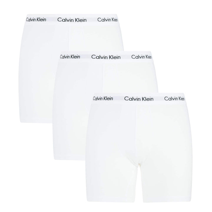 CALVIN KLEIN COTTON STRETCH 3 PACK FITTED TRUNK U2662G 100 (WHITE)
