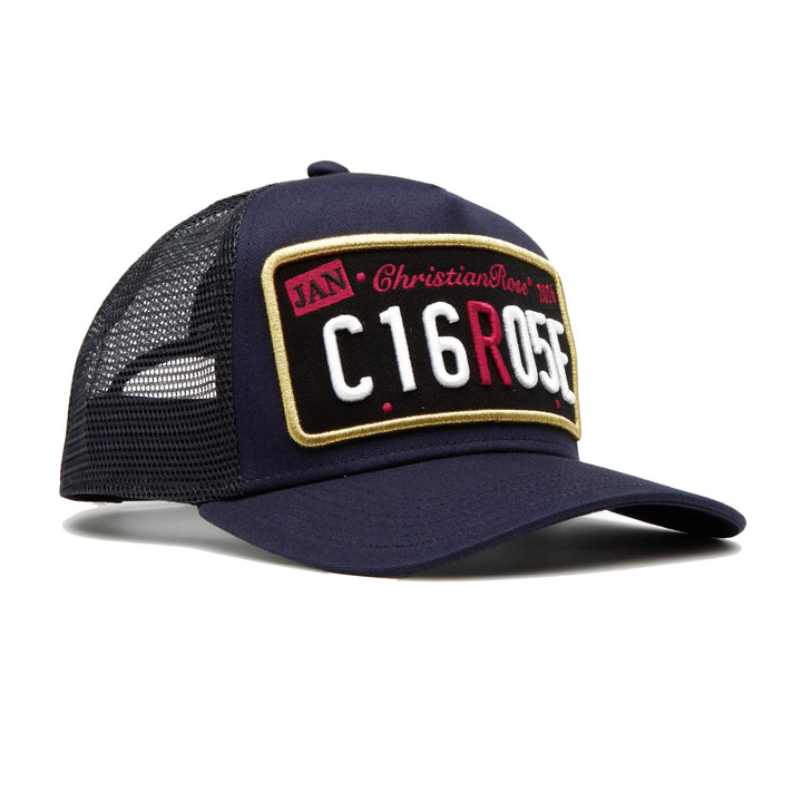 CHRISTIAN ROSE PRIVATE PLATE TRUCKER CR013 NAVY