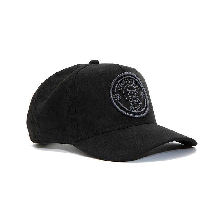 CHRISTIAN ROSE SUEDE TRUCKER CAP CR012 BLACK/BLACK